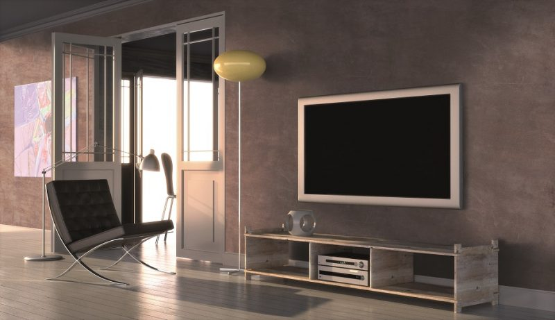 Modern interior with home cinema